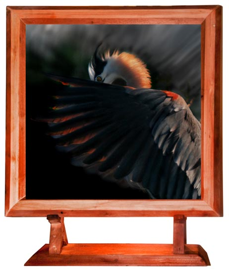 One of a Kind picture Frame wood work of Art